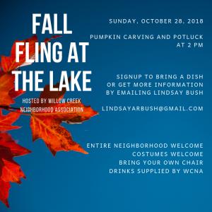 Fall Fling @Willow Creek Lake @ Willow Creek Lake
